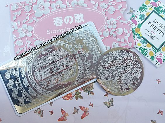 Born pretty store nail stamples lace