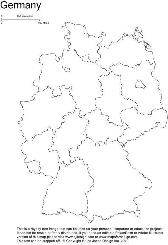 germany printable blank map Berlin europe royalty free – Germany Map Printable