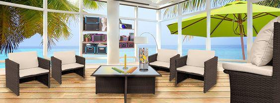 Beautiful  Design Interiour Polyrattan Loungem bel Chill Out Areas Pinterest