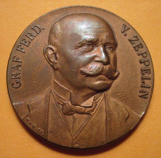 1909 Berlin Flight of The Ziii Bronze Medal Uncirculated Kaiser 317 1 575 | eBay