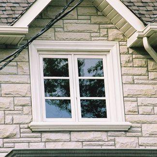 Exterior window trim inspiration curb appeal pinterest for Exterior window design molding