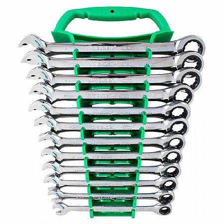 chave combinada com catraca speedy 12 peças de 8 a 19 mm