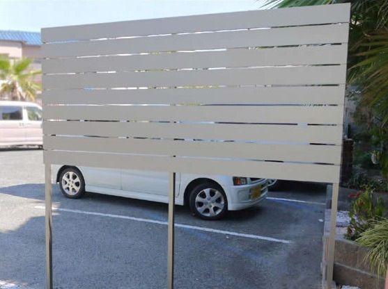正規 リクシルプレスタ7y型 横スリット形材 フェンス 柵を値引45 工事販売 愛知三重岐阜 庭 リフォーム フェンス リフォーム エクステリア