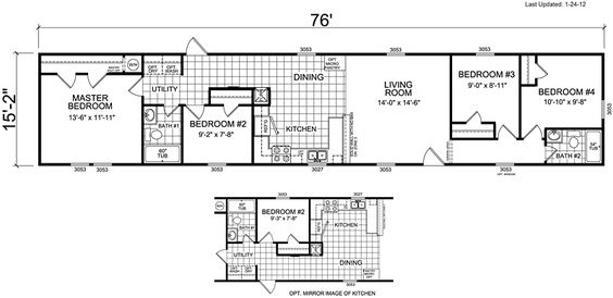 6 bedroom mobile homes mobile home floor plans 4 bedroom search 13982