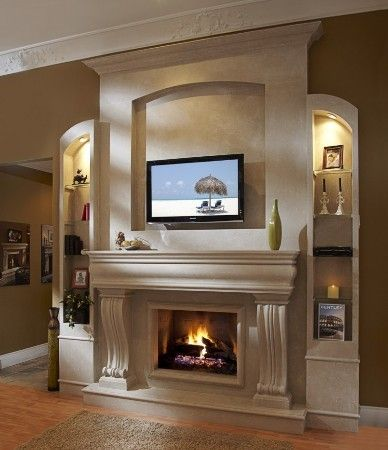 faux stone mantels and faux stone fireplaces on pinterest. Black Bedroom Furniture Sets. Home Design Ideas