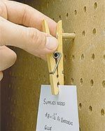 clothespin and pegboard