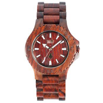 Organic Wood Watch. Adorn yourself in good conscience with these beautiful organic wood time pieces. The environmentally responsible company plants a tree for every watch they sell.  $119.00