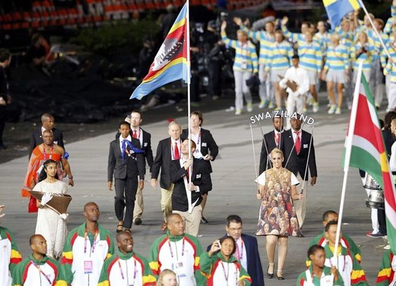 Luke Hall, Swaziland's Flag Bearer at the Opening Ceremonies of the 2012 London Olympic Games #London2012