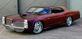 Pontiac GTO Red After Modification in Wheel