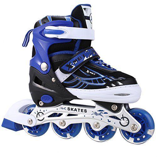 Kemanner Adjustable Inline Skate For Adult Kids Featuring