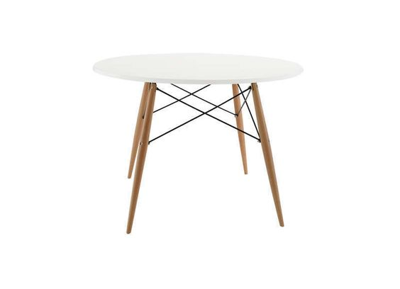 Table ronde scandinave Blanc KENNEDY TABLE RONDE