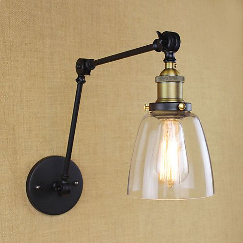 Rustic Lodge Swing Arm Lights Metal Wall Light 110v 110 120v 220 240v 40w In 2020 Adjustable Wall Lamp Metal Wall Light Wall Lights