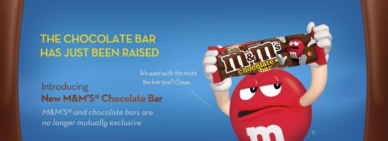 Huh, interesting: New M'S® Chocolate Bar