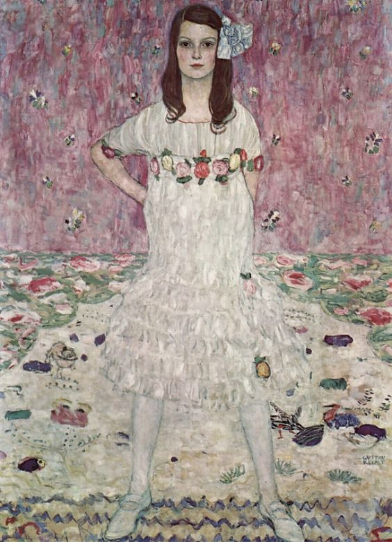 Gustav Klimt (1862–1918), Mäda Primavesi (1903–2000), 1912, olieverf op doek, 149.9 × 110.5 cm, The Metropolitan Museum of Art, New York