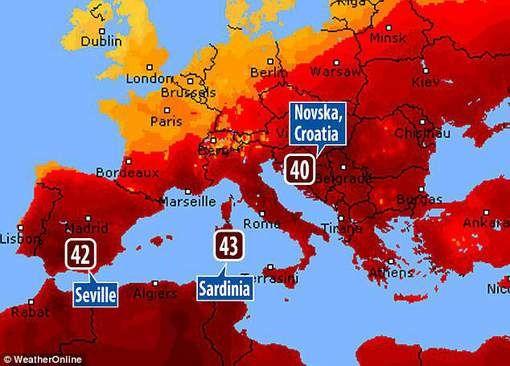 Hittegolf Lucifer doet zuidoostelijk Europa kreunen onder gevoelstemperaturen boven 50 graden - HLN.be