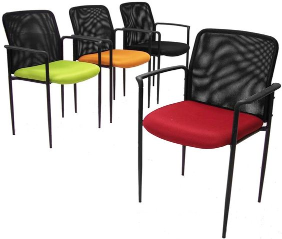 Mesh Guest Chair with 4 Exciting Color Options! In Stock! Free Shipping!