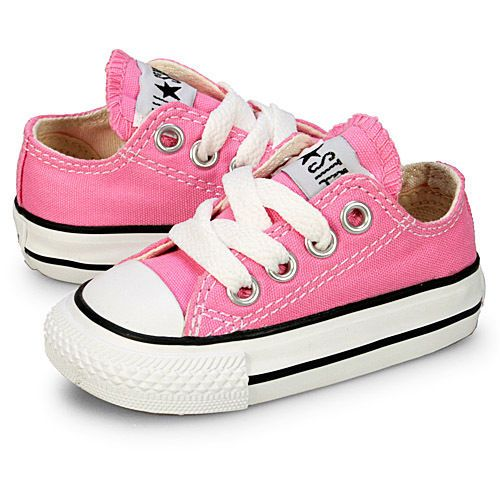 Toddler Infant Girls Pretty in PINK CONVERSE CHUCK TAYLOR Tennis shoes Size  5 #ConverseChuckTaylor #