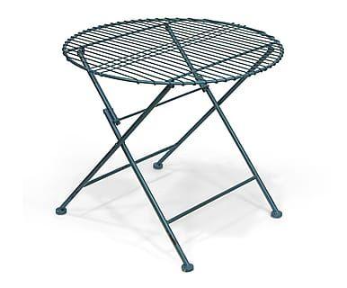 Table d'appoint, bleu - Ø60