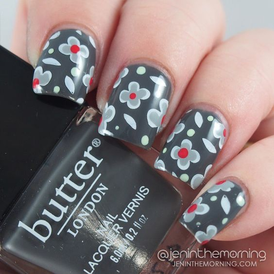 Stamped and Dotted Mani