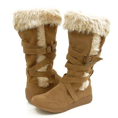 Awesome Ladies Soft Faux Fur Lined Womens Button Winter Snow Calf Boots Shoes