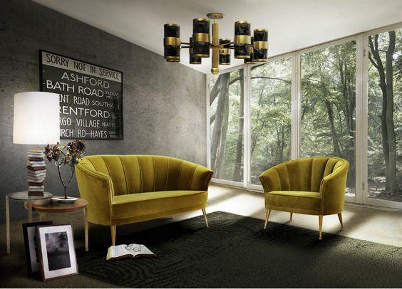 Top 10 moderne Sofas | Gelb samt Sofa von Brabbu. Modern Luxus ...