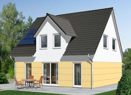 fehér - sárga párosítása családi házon