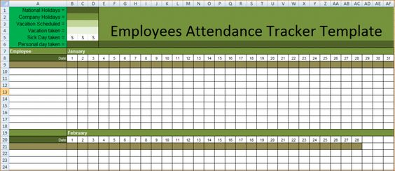 Amal Lexin (amallexin34acct) on Pinterest - employee attendance sheet template free