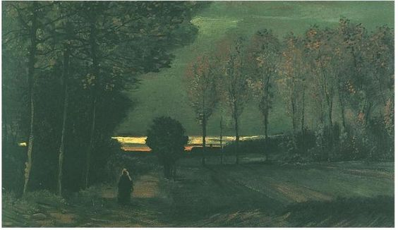 Van Gogh Gallery : Autumn Landscape at Dusk