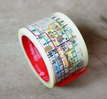 hello! nyc subway tape - I wonder if they have Tokyo Metro tape, or Paris? A toronto tape would be BOOOORING