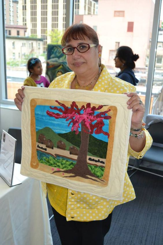 Arlene at 2nd Annual Latino Art Fair