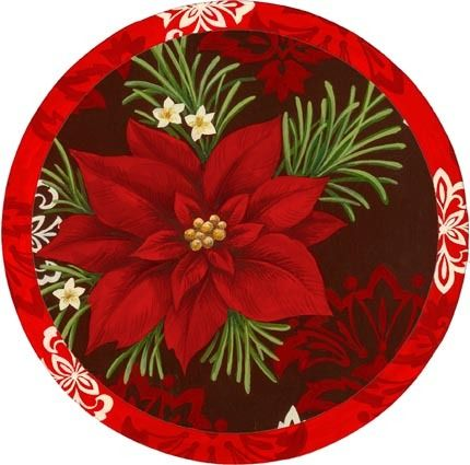 CHRISTMAS POINSETTIA CLIP ART: