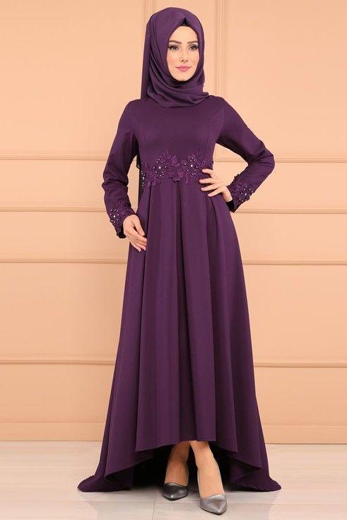 Modaselvim Abiye Gupuru Incili Peplum Abiye Pl839 Mor Moda Stilleri The Dress Elbiseler