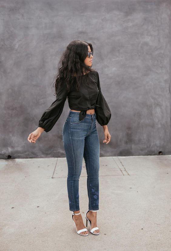 estilo casual com calça jeans moda