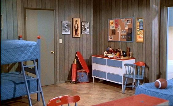 the brady boys' bedroom: