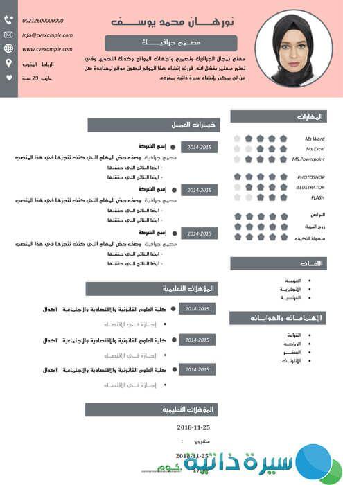 سي في بالعربي Cv Words Words Excel