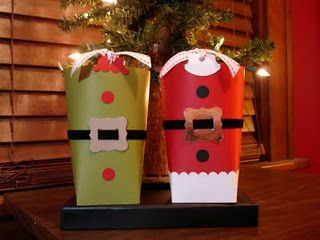 Santa and elf gift bags using Stampin' Up! punches