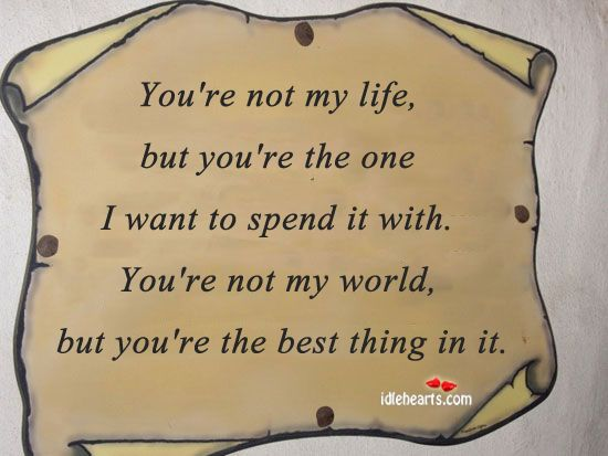 You're the best thing in it..