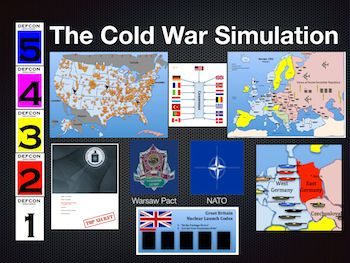 Cold War Simulation Lesson Plan-The Cold War Simulation Activity is an interactive lesson plan, featuring different aspects of the Cold War Era. HistorySimulation.com produces interactive history lesson plans for high school and middle school students.  Developed by a history teacher, they allow students to take possession of a country and then participate in small group activities as the Cold War heats up.