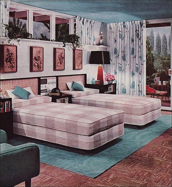 Midcentury Modern Retro Interior Design Decoration Decor