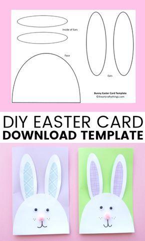 Cutest Bunny Diy Easter Card Easter Bunny Crafts Diy Easter Cards Easter Cards Handmade