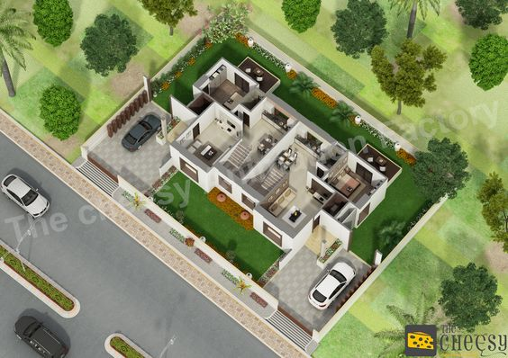 The cheesy animation is a isometric images 3d floor plan for 3d site plan