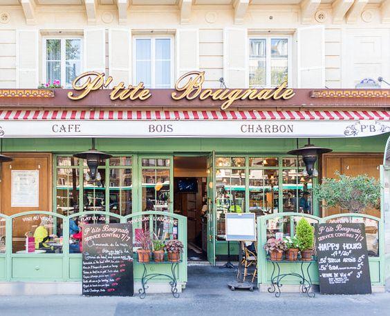 Paris Photography Petite Bougnate Cafe Paris by ParisianMoments