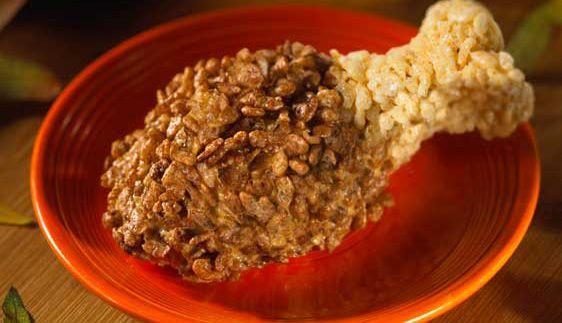 Rice Krispies Thanksgiving Turkey Drumstick Treats