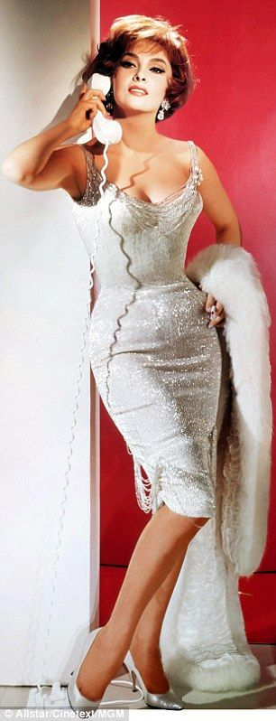 Screen siren: Gina Lollobrigida posing for publicity shots in 1961
