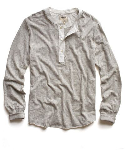 oatmeal classic henley / borrowed from the boys