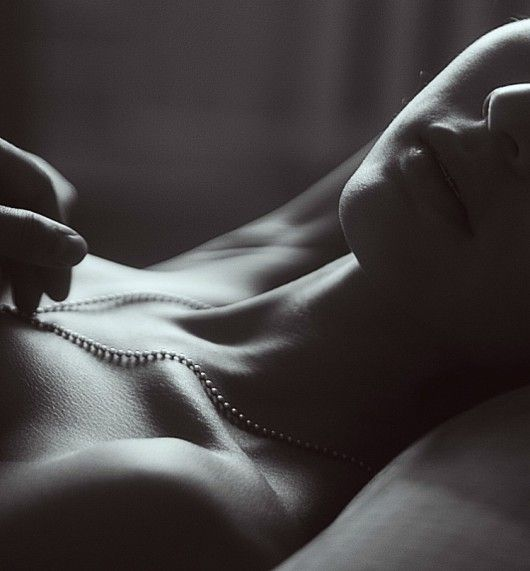 Love is..... pearl necklaces in bed. (smirk)