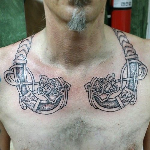 The Beginning Of A Very Large And Exciting Project Viking Vikings Norse Heathen Asatru Pagan Sk In 2020 Viking Tattoos Celtic Sleeve Tattoos Scandinavian Tattoo