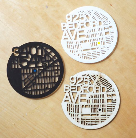 You are here laser cut coasters