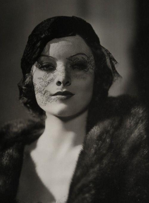 Myrna Loy: Silent Film, Hats 1930S, 1930 S, Myrna Loy, Lace Veils