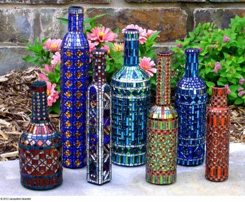 "Contemporary Mosaic - ""Bottle Collection"" (Original Art from Jacqueline Iskander)"